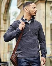 Parkline Zip Neck Mini Stripe Micro Fleece